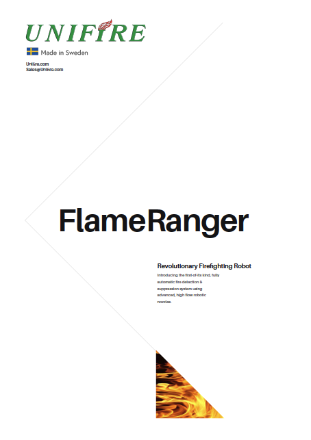 Unifire FlameRanger Fully Automatic Fire Monitor and Robotic Nozzles Systems with Flame Detectors and Thermal Imaging Cameras