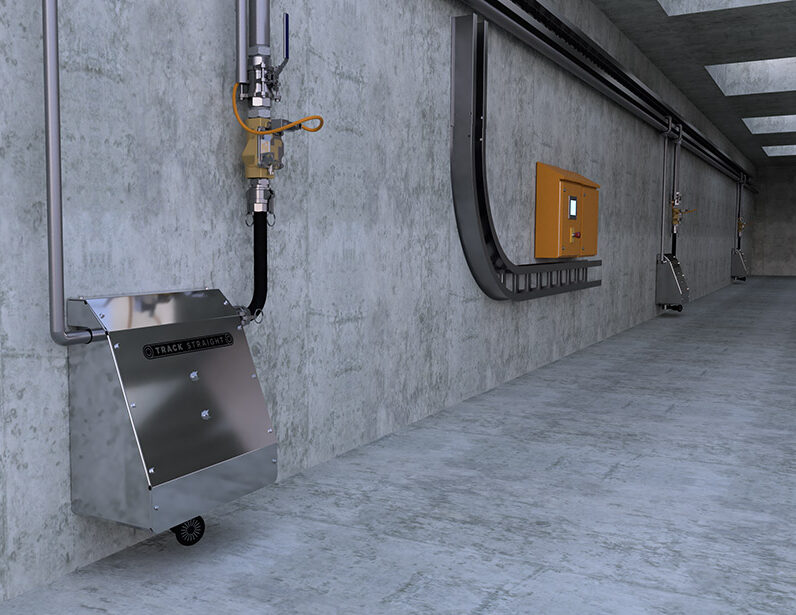 Automatic Mining Belt Wash Down System by Unifire and Track Straight